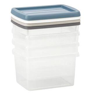 طقم علب بلاستيك 4 قطع سعة 0.5 لتر