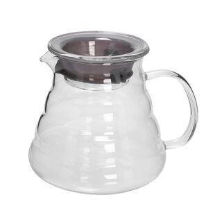 إبريق للشاي والقهوة من الزجاج سعة 600 مل