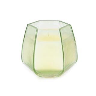 شمعة زجاجية برائحة العود