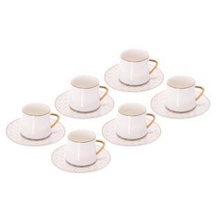 طقم أكواب شاي بورسلان 12 قطعة