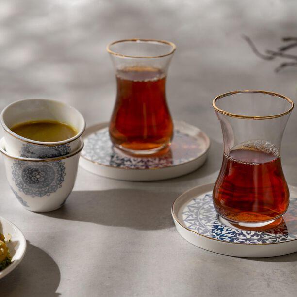 طقم شاي وقهوة 18 قطعة لون أزرق معدني من لاميسا image number 3