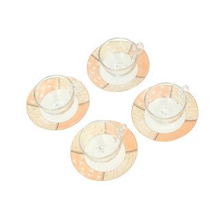 طقم أكواب شاي زجاج 8 قطعة